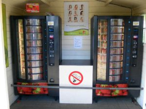 Distributeurs automatiques de fraises